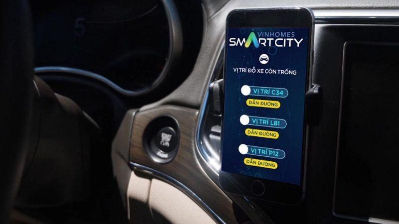 App tim cho trong va dau xe thong minh - VINHOMES SMART CITY