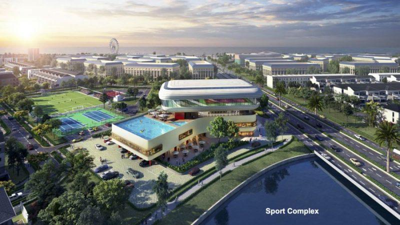 Aqua Sport Complex với diện tích 2,2ha