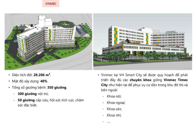 Benh vien da khoa quoc te Vinmec la tien ich quan trong lam nen thuong hieu cua tap doan Vingroup - Vinhomes Smart City Tây Mỗ | Bảng Giá & Vị Trí Tiến Độ Metrolines 2021