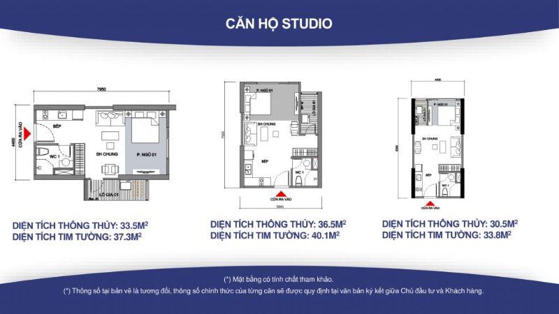 Can ho Studio co dien tich nho hon 40m2 - VINHOMES GRAND PARK