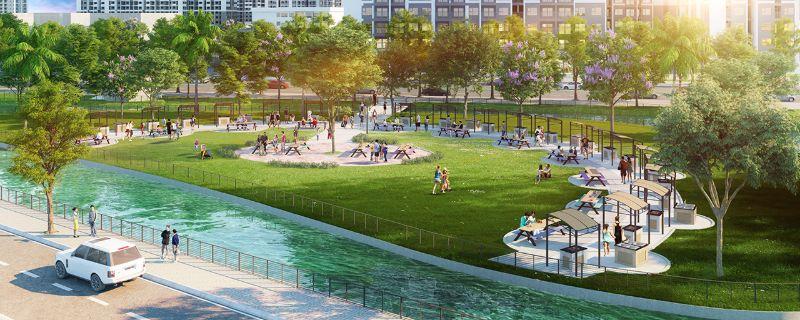 Cong vien Gym ngoai troi - Vinhomes Grand Park Quận 9   Tiến Độ & Giá Bán Mới Nhất 2021