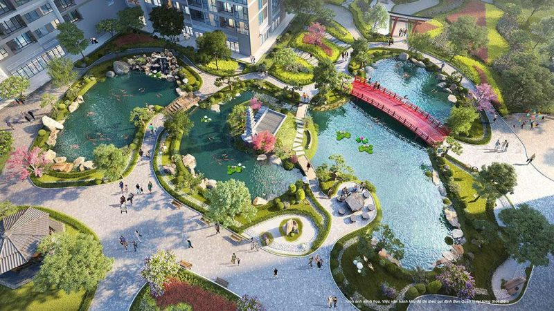 Công viên nội khu phân khu The Zen Park