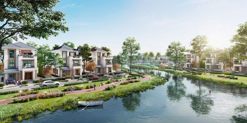 Đường dạo ven sông thoải mái của dự án Aqua City