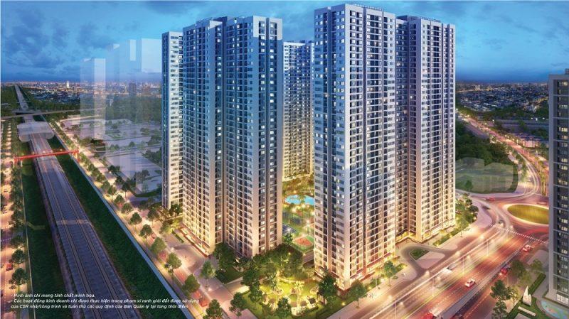 Grand Sapphire Vinhomes Smart City gồm có 5 tòa căn hộ