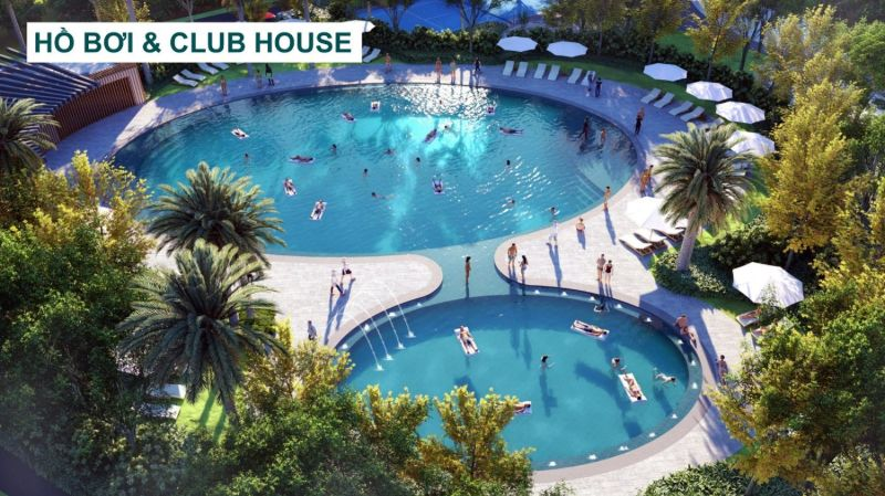 Ho boi ve Club House tai phan khu Phoenix South Aqua City - AQUA CITY