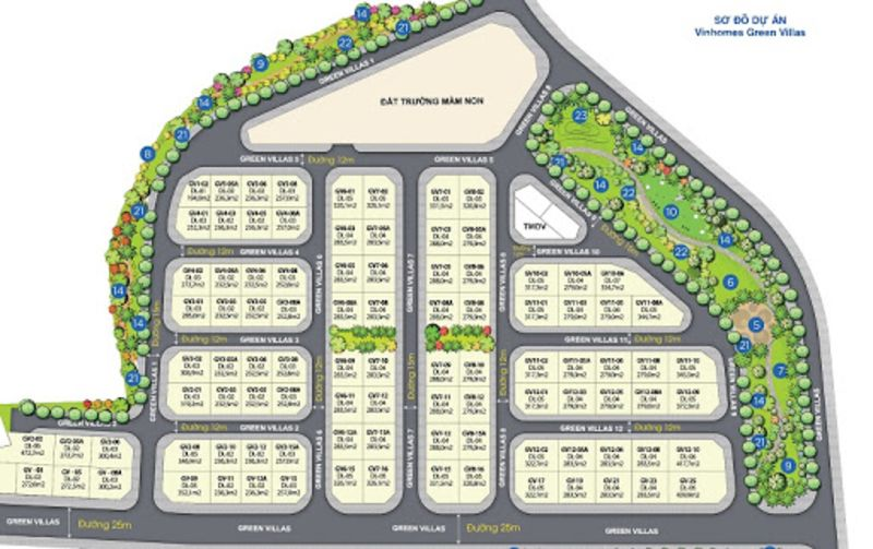 Khu biet thu sinh thai cua Vinhomes Smart City co ten goi Vinhomes Green Villas - Vinhomes Smart City Tây Mỗ | Bảng Giá & Vị Trí Tiến Độ Metrolines 2021