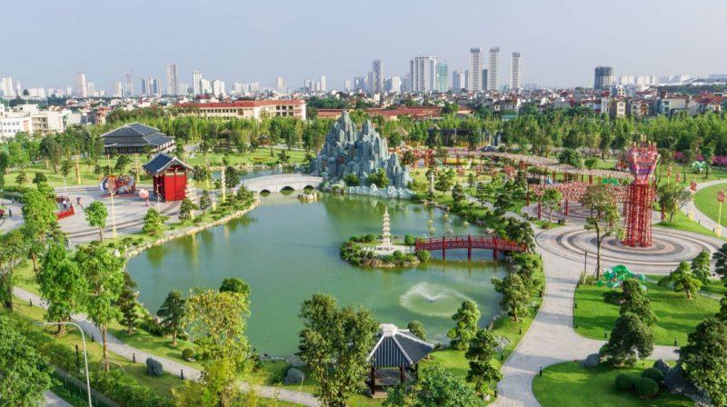 Khu vườn Nhật Bản tuyệt đẹp Vinhomes Smart City