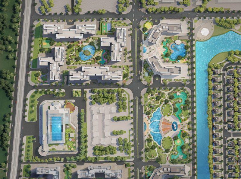 Mặt bằng dự án The Pavilion Vinhome Ocean Park
