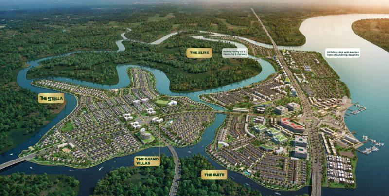 Mặt bằng khu đô thị sinh thái Aqua City