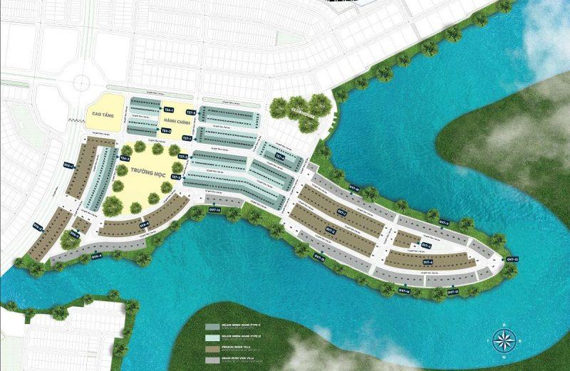 Mặt bằng phân khu Elite 2 dự án Aqua City