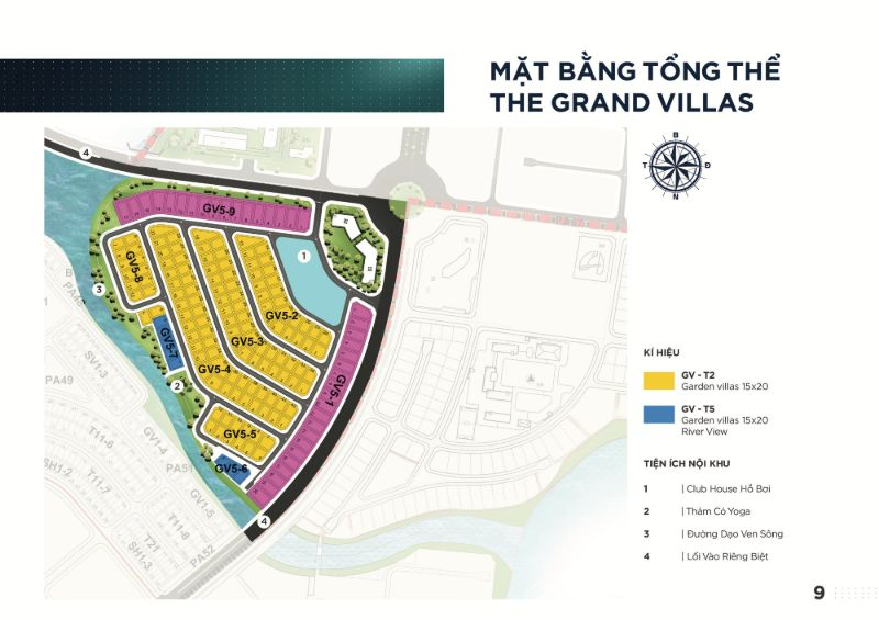 Mat bang tong the cua Grand Villas - AQUA CITY