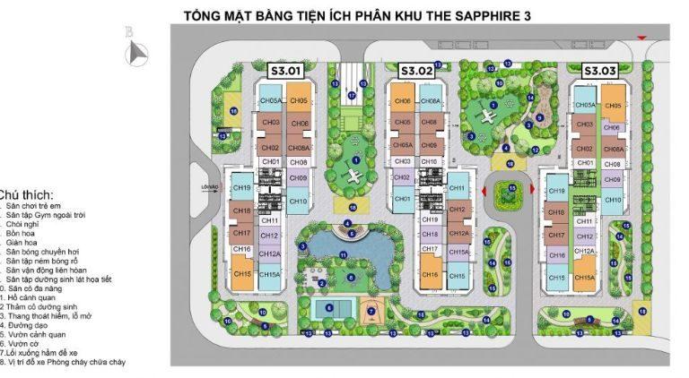 Sapphire-3-la-phan-khu-co-mat-do-thap-nhat-voi-3-toa-can-ho-la-S3-01;-S3-02;-S3-03