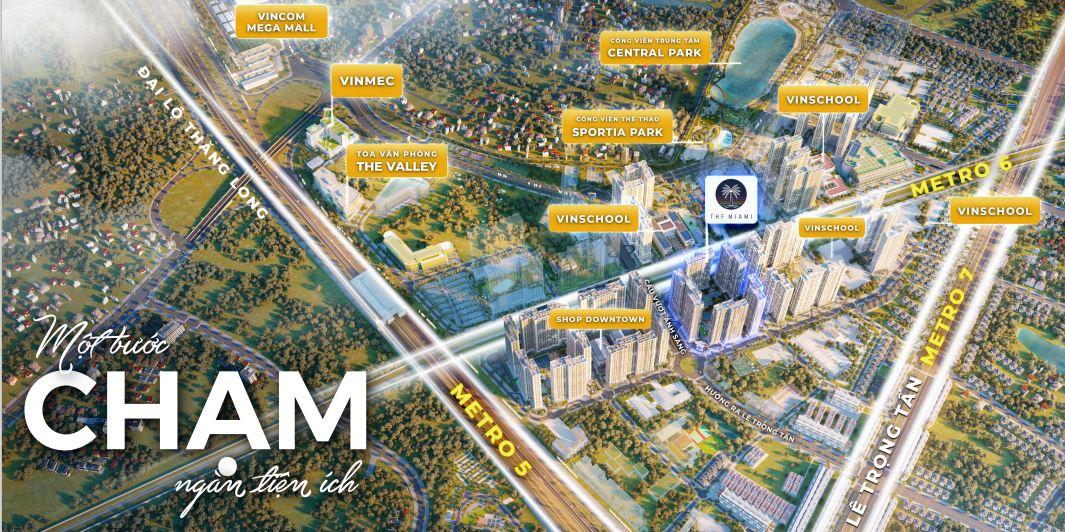 Tòa GS1 Miami Metrolines Smart City có vị trí vô cùng thuận lợi
