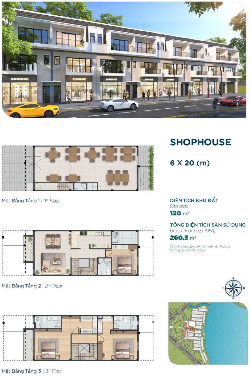 Townhouse 6x20m Phân khu Elite 1 dự án Aqua City