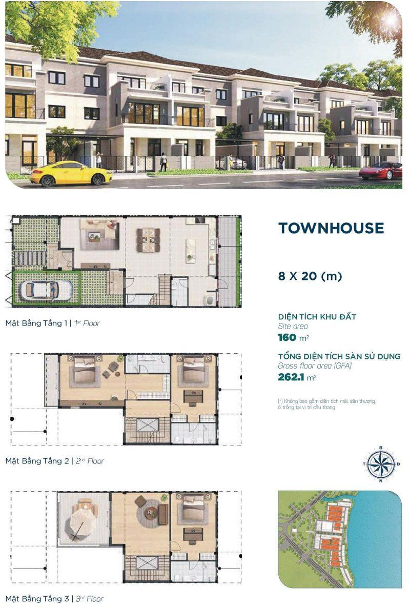 Townhouse 8x20m Phân khu Elite 1 dự án Aqua City