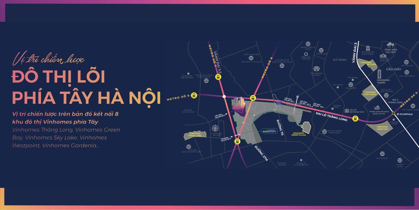 Vinhome Smart City Tây Mỗ nằm tại giao điểm vàng tại Nam Từ Liêm Hà Nội