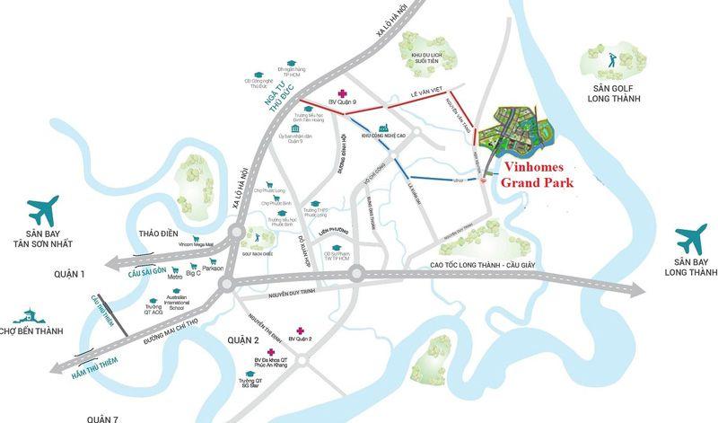 Vinhomes Grand Park nam tren dia ban phuong Long Binh va Long Thanh My thuoc quan 9 - Vinhomes Grand Park Quận 9   Tiến Độ & Giá Bán Mới Nhất 2021