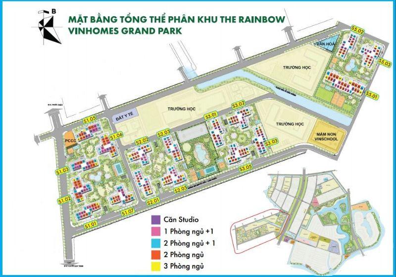 tong the khu the rainbow vinhomes grand park quan 9 - Vinhomes Grand Park Quận 9   Tiến Độ & Giá Bán Mới Nhất 2021