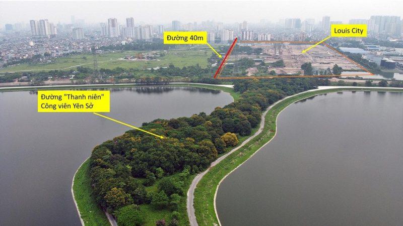 Dự án Louis City Hoàng Mai có long mạch tốt