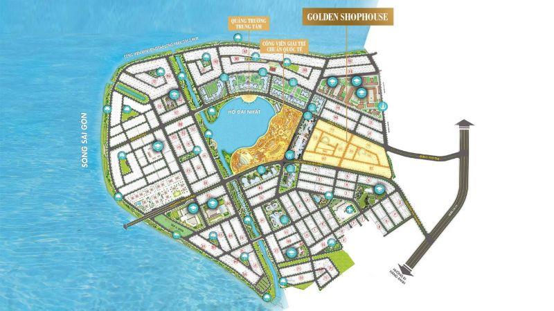 Golden Shophouse om tron Ho Dai Nhat o trung tam - KHU ĐÔ THỊ VẠN PHÚC