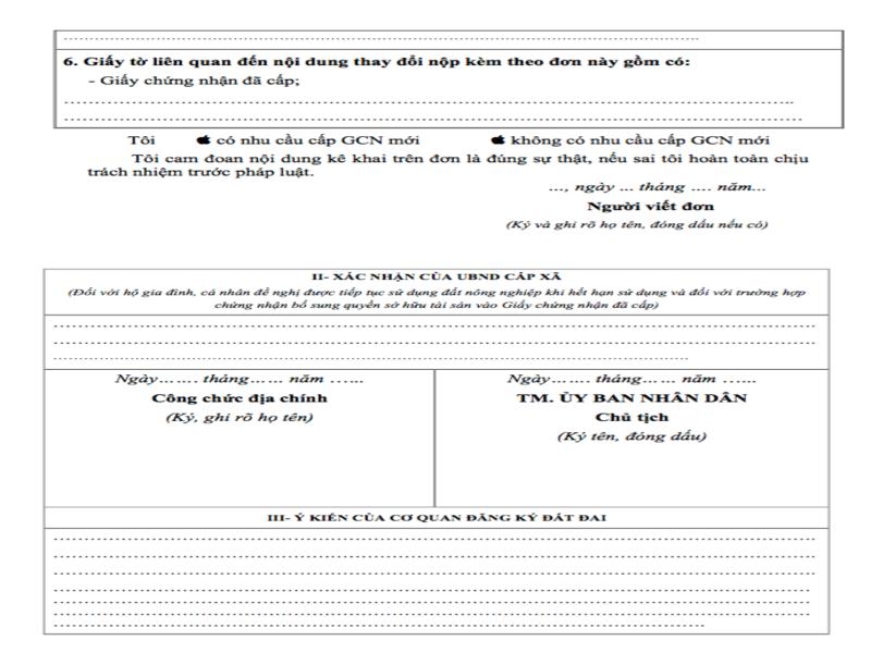 Hinh 2 - Hướng dẫn cách ghi đơn đăng ký biến động đất đai, tài sản gắn liền với đất.