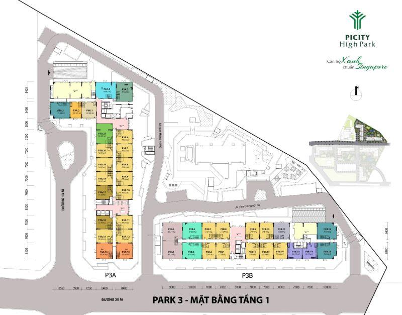Mat bang tang 1 Park 3 can ho chung cu Picity High Park - PICITY HIGH PARK