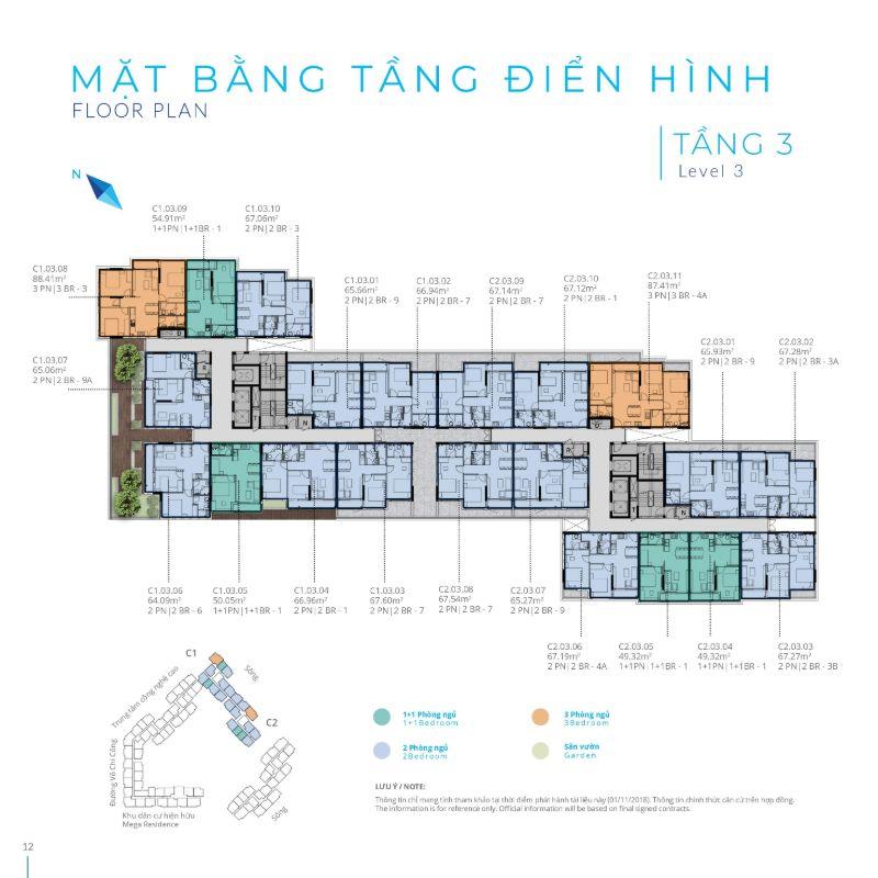 Mat bang tang 3 Safira Khang Dien - SAFIRA KHANG ĐIỀN