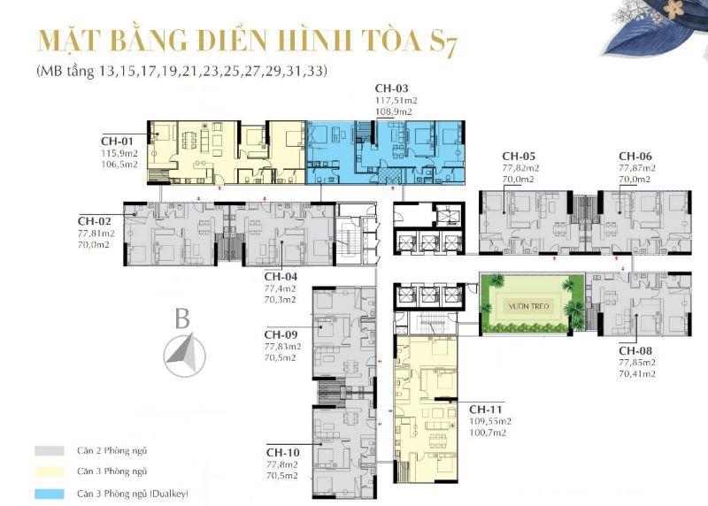 Mat bang toa S7 - SUNSHINE CITY