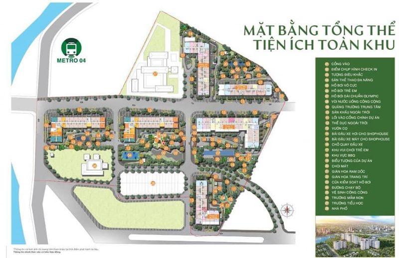 Mat bang tong the tien ich toan khu Picity High Park - PICITY HIGH PARK