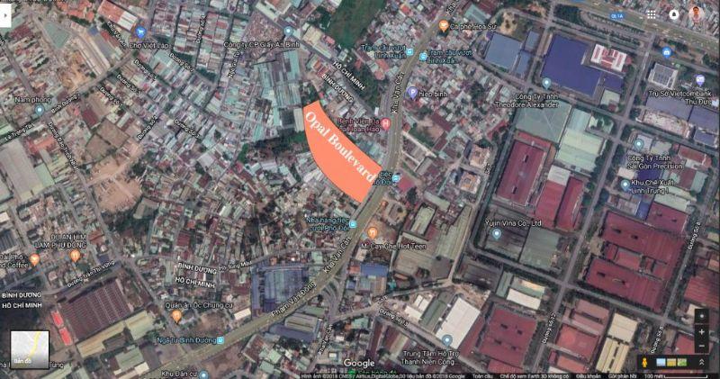 Opal Boulevard Dat Xanh la noi giao thong chien luoc cua vung kinh te tam giac vang la Binh Duong TP Ho Chi Minh va Dong Nai - OPAL BOULEVARD