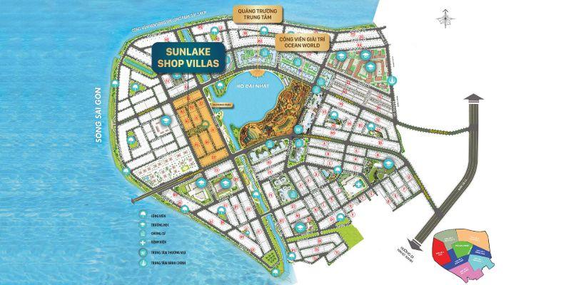 Sunlake Shop Villas la phan khu dep nhat khu do thi voi tam nhin 3 trong 1 - KHU ĐÔ THỊ VẠN PHÚC
