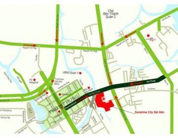 Sunshine City Sai Gon nam tren cac tuyen duong quan trong cua quan 7 360x280 - SUNSHINE CITY
