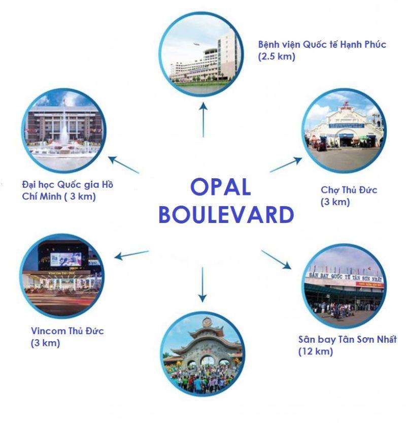 Tien ich ngoai khu Opal Boulevard - OPAL BOULEVARD