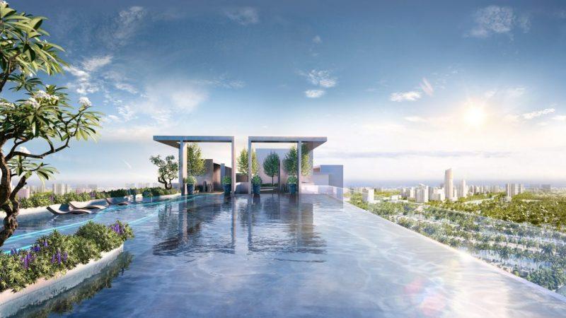 Bể bơi vô cực dự án Sol Forest Ecopark