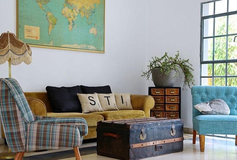 Cach tan phong khach theo kieu Retro voi bo ban ghe moc mac nhung van bat mat thu hut - [ Top 12 + ] Mẫu thiết kế nội thất chung cư tại Hà Nội đẹp nhất
