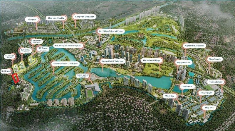 Du an se duoc xay dung tai vi tri dac dia - Sol Forest Ecopark