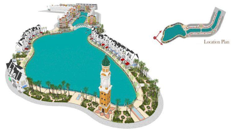 Hồ nước trung tâm rộng 1.4 ha Grand World Phú Quốc