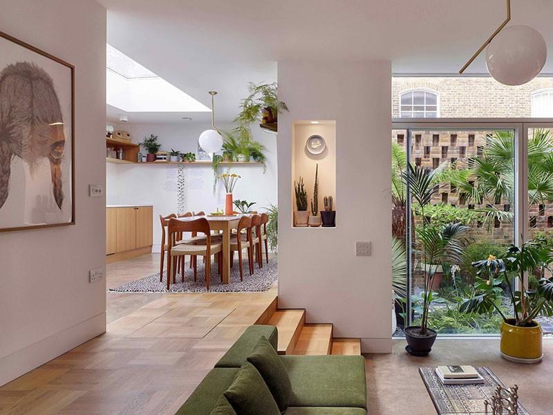 Loi kien truc cua phong cach Eco su dung nhieu cay xanh va vat lieu thien nhien - [ Top 12 + ] Mẫu thiết kế nội thất chung cư tại Hà Nội đẹp nhất