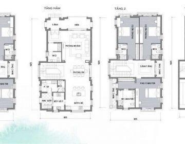 Mat bang biet thu 360x280 - Hà Đô Charm Villas