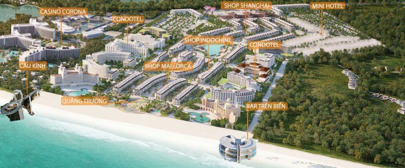 Mặt bằng các phân khu Grand World Phú Quốc