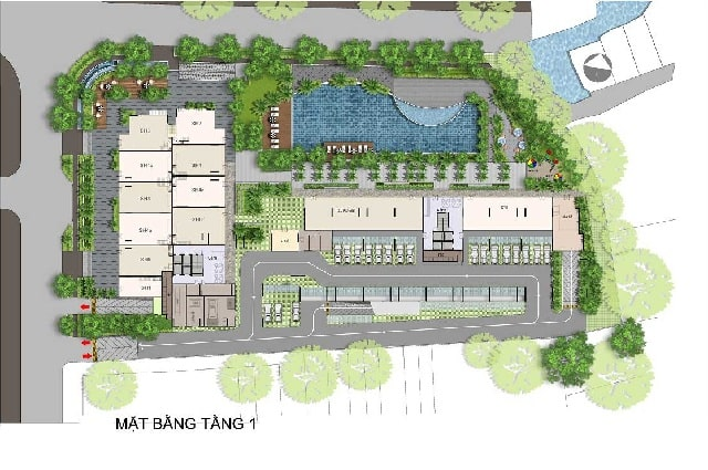 Mat bang tang 1 - Chung cư Opal Garden