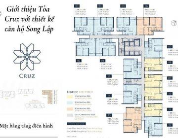 Mat bang toa Cruz 360x280 - Chung cư Feliz En Vista