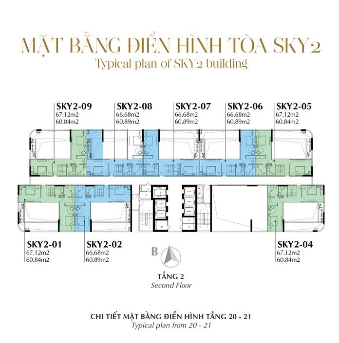 Mat bang toa thap Sky 2 - Sunshine Crystal River