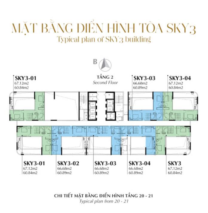 Mat bang toa thap Sky 3 - Sunshine Crystal River