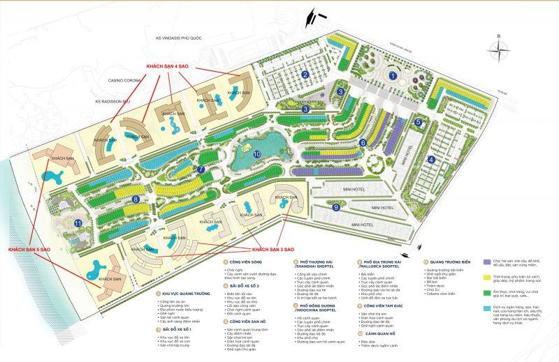 Mặt bằng tổng thể dự án Grand World Phú Quốc