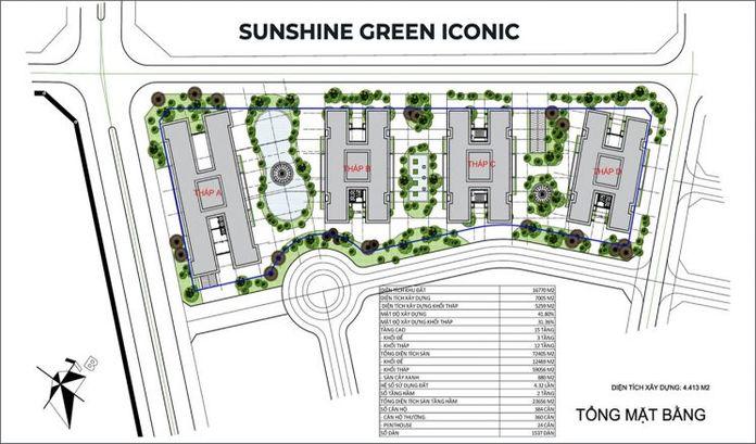 Mat bang tong the du an chung cu Sunshine Green Iconic