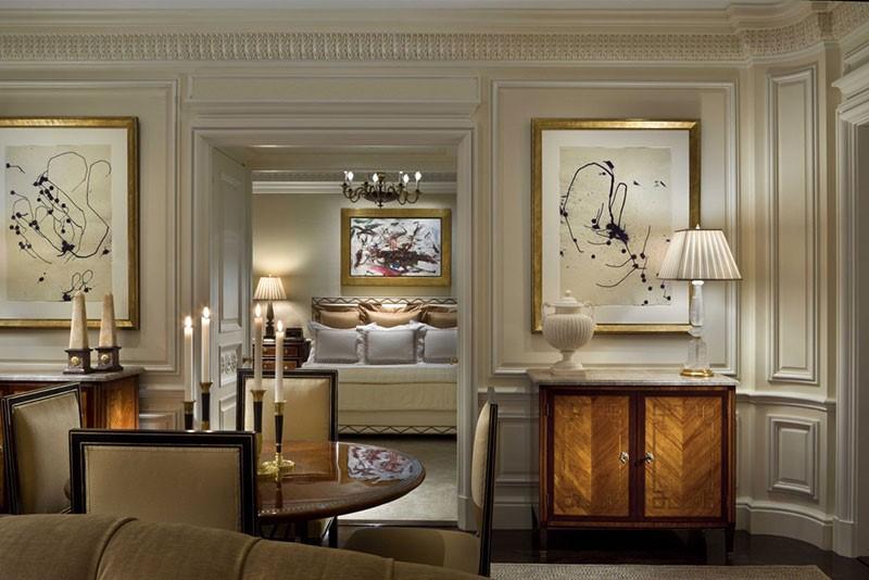 Noi bat voi tone mau vang va mau kem thiet ke noi that theo kieu co dien dem den su sang trong quy phai - [ Top 12 + ] Mẫu thiết kế nội thất chung cư tại Hà Nội đẹp nhất