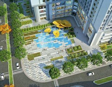 Phoi canh quang truong nuoc 360x280 - chung cư Goldmark City 136 Hồ Tùng Mậu