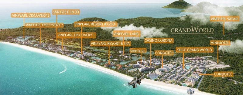Phối cảnh siêu dự án nghỉ dưỡng, giải trí du lịch Grand World Phú Quốc