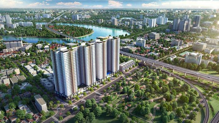 Phoi canh tong the du an chung cu Phuong Dong Green Park